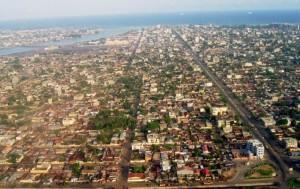 Cotonou : vue aérienne